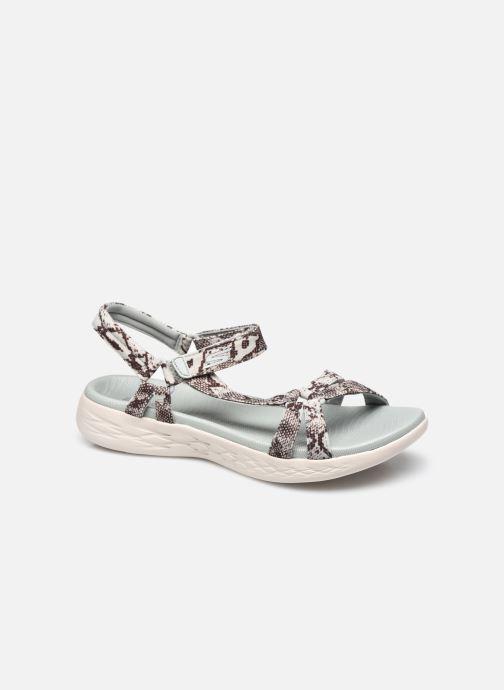 Sandales et nu-pieds Skechers ON-THE-GO 600/SAFARI GIRL Bleu vue détail/paire