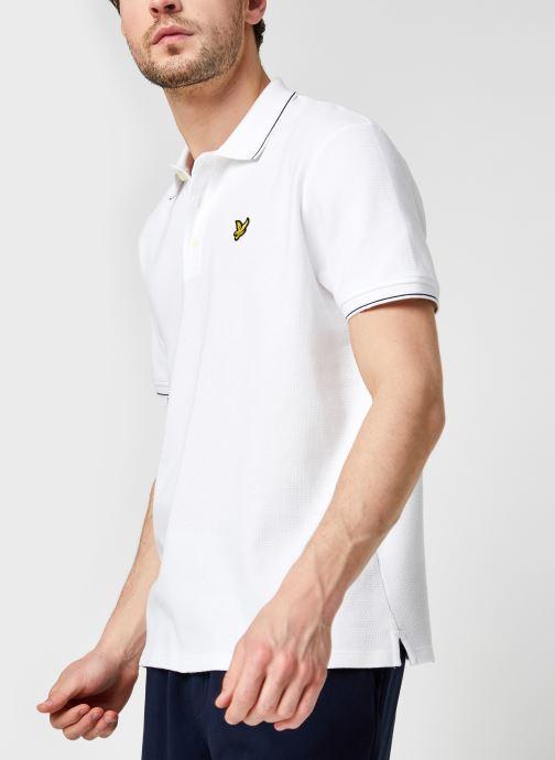 Kleding Lyle & Scott Waffle Polo Shirt Wit detail