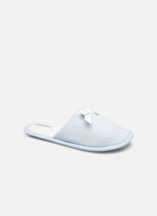 Pantoffels Sarenza Wear Chaussons mules à pois Femme Blauw detail