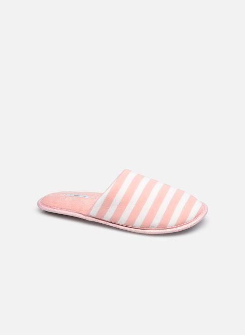 Pantoffels Sarenza Wear Chaussons mules rayés Femme Roze detail