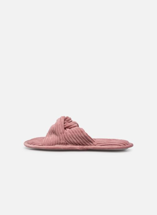 Pantoffels Sarenza Wear Chaussons croisés cotelés Femme Roze voorkant