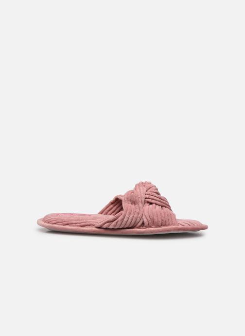 Pantoffels Sarenza Wear Chaussons croisés cotelés Femme Roze achterkant