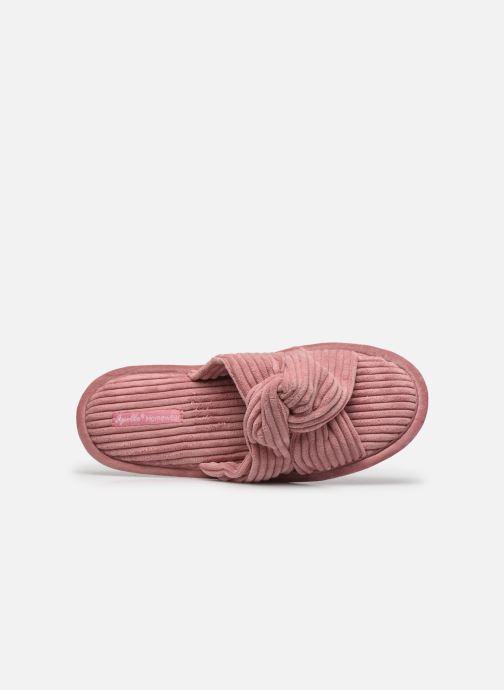 Pantoffels Sarenza Wear Chaussons croisés cotelés Femme Roze links