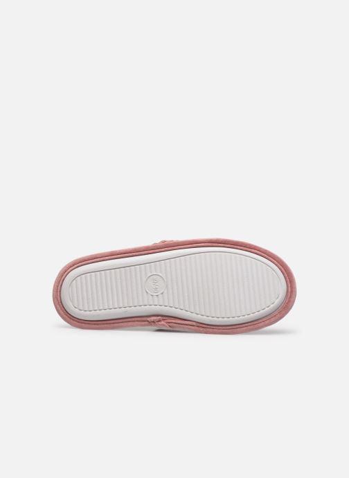 Pantoffels Sarenza Wear Chaussons croisés cotelés Femme Roze boven