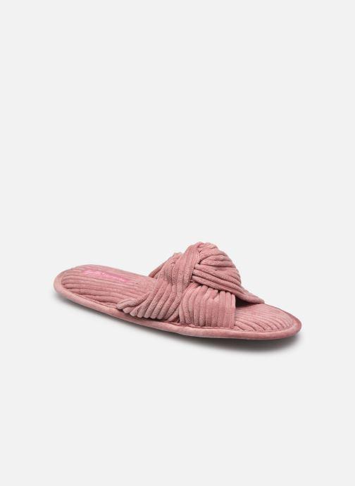Pantoffels Sarenza Wear Chaussons croisés cotelés Femme Roze detail