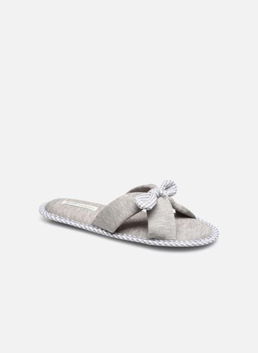 Pantoffels Sarenza Wear Chaussons croisés noeud Femme Grijs detail