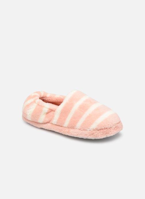 Pantoffels Sarenza Wear Chaussons rayés enfant fille Roze detail