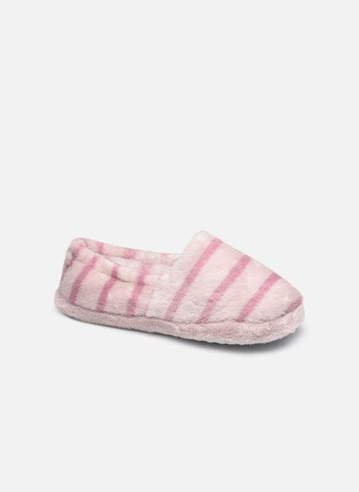 Pantoffels Sarenza Wear Chaussons rayés enfant fille Paars detail