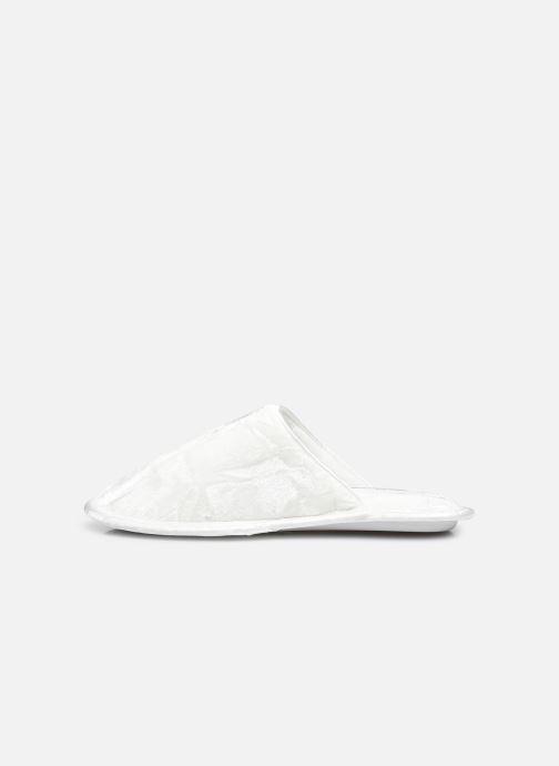 Pantoffels Sarenza Wear Chaussons glitters enfant Wit voorkant