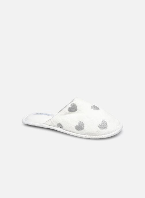 Chaussons Sarenza Wear Chaussons cœur enfant Blanc vue détail/paire
