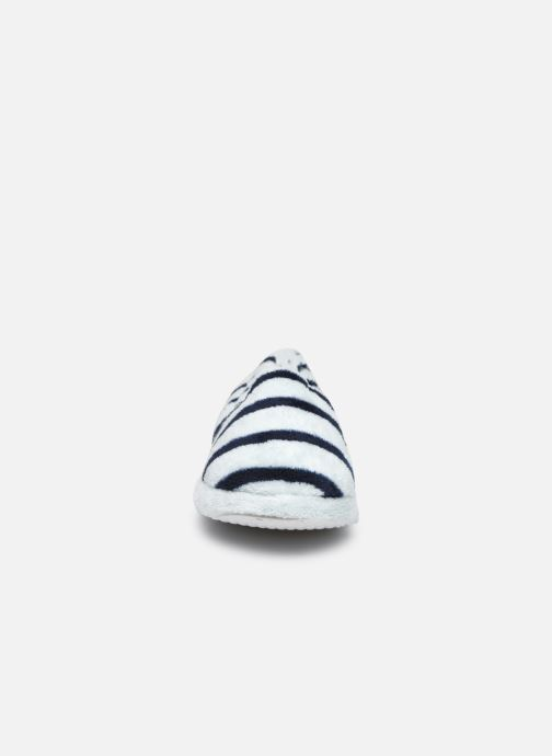 Pantoffels Sarenza Wear Chaussons rayés enfant Blauw model