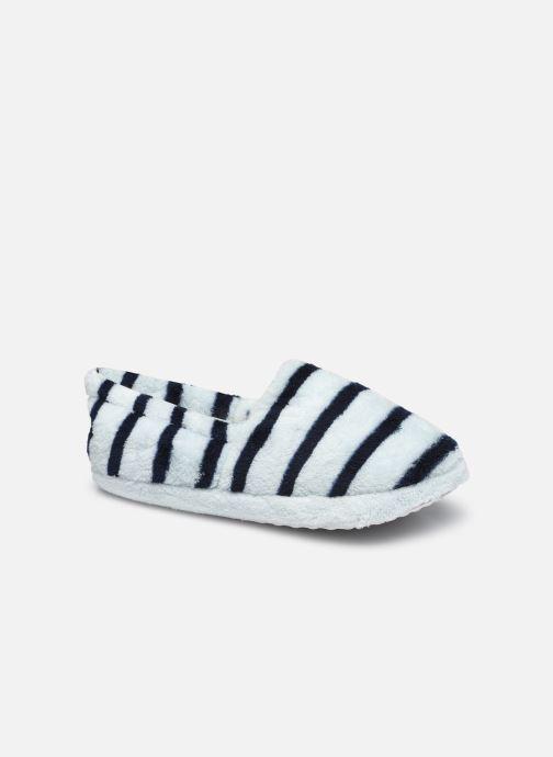 Pantoffels Sarenza Wear Chaussons rayés enfant Blauw detail