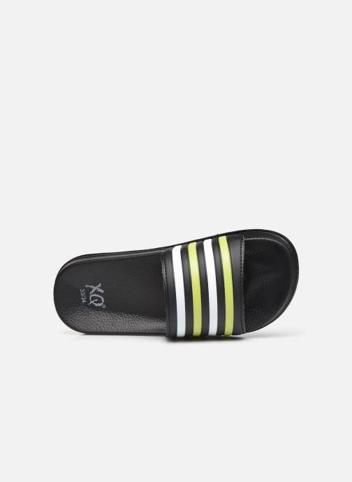 Sandali e scarpe aperte I Love Shoes Claquette Rayées Enfant Giallo immagine sinistra