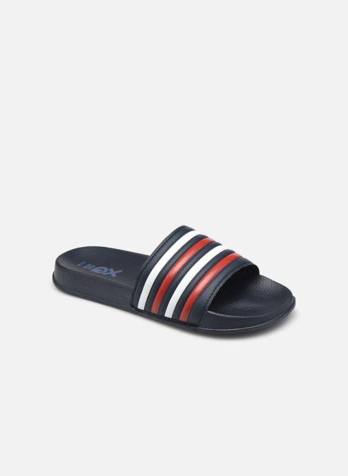 Sandales et nu-pieds I Love Shoes Claquette Rayées Enfant Rouge vue détail/paire