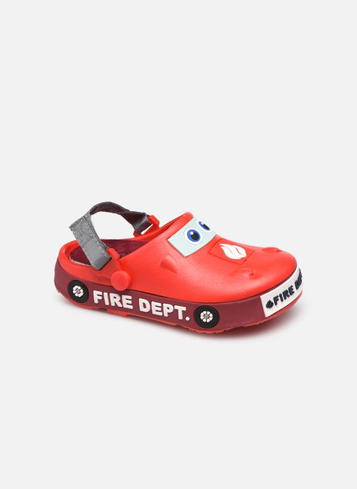 Sandales et nu-pieds I Love Shoes Sandales Plastique Pompiers Enfant Rouge vue détail/paire