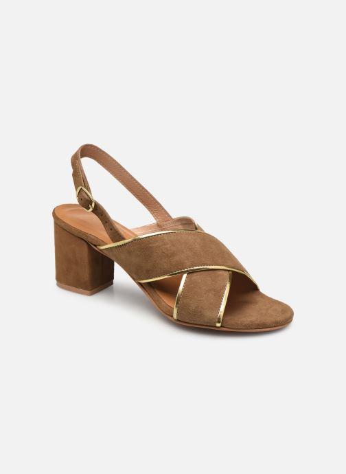 Sandales et nu-pieds L'Atelier Tropézien IL 2101 Marron vue détail/paire