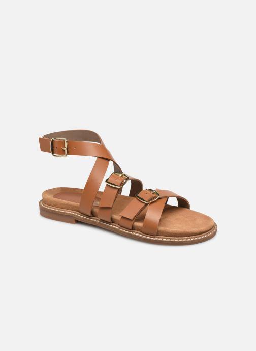 Sandales et nu-pieds L'Atelier Tropézien SH 326 Marron vue détail/paire