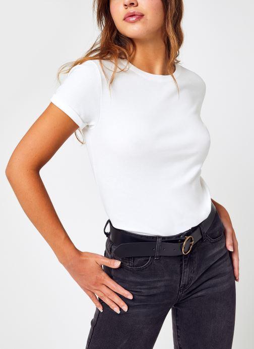 Vêtements Petit Bateau Tee Shirt Mc F Blanc vue détail/paire