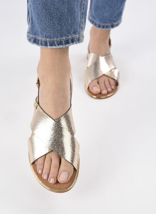 Sandalen Les Tropéziennes par M Belarbi HILIANA gold/bronze ansicht von unten / tasche getragen