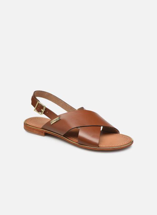 Sandales et nu-pieds Les Tropéziennes par M Belarbi HILIANA Marron vue détail/paire