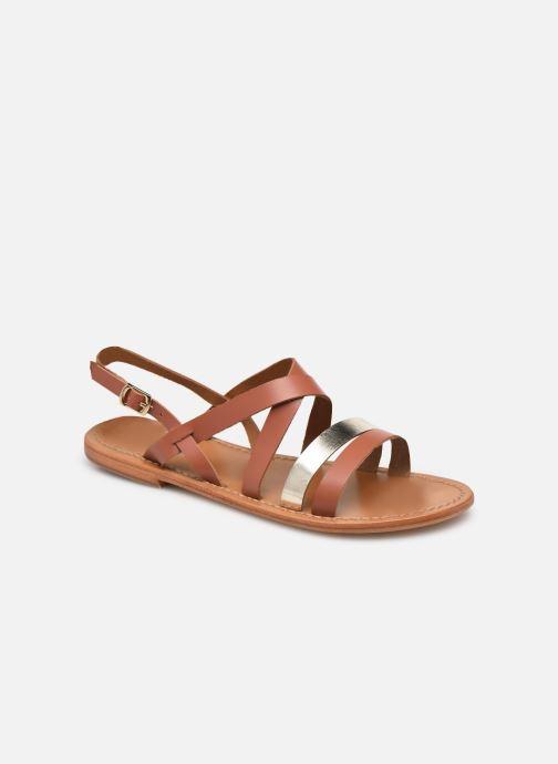 Sandales et nu-pieds White Sun PARAENA Or et bronze vue détail/paire