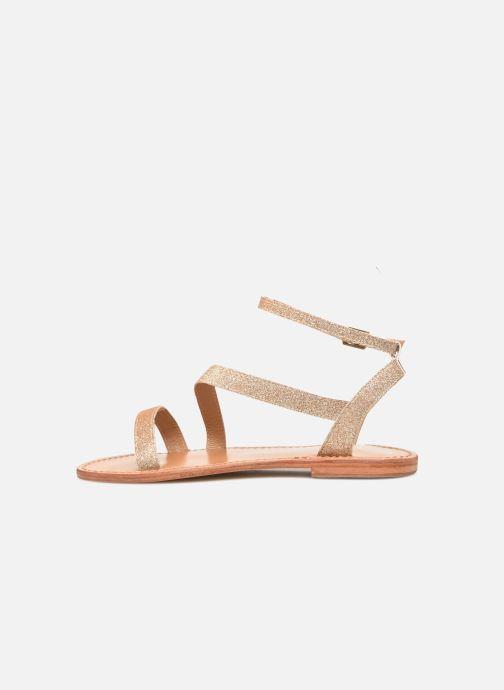 Sandales et nu-pieds White Sun XIGALA Or et bronze vue face