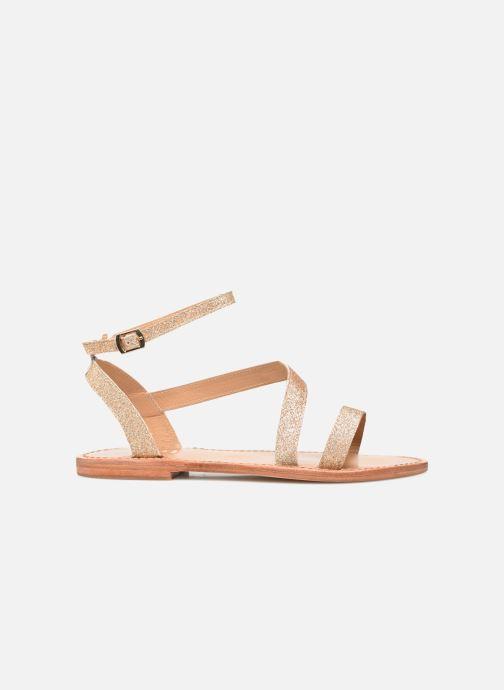 Sandales et nu-pieds White Sun XIGALA Or et bronze vue derrière