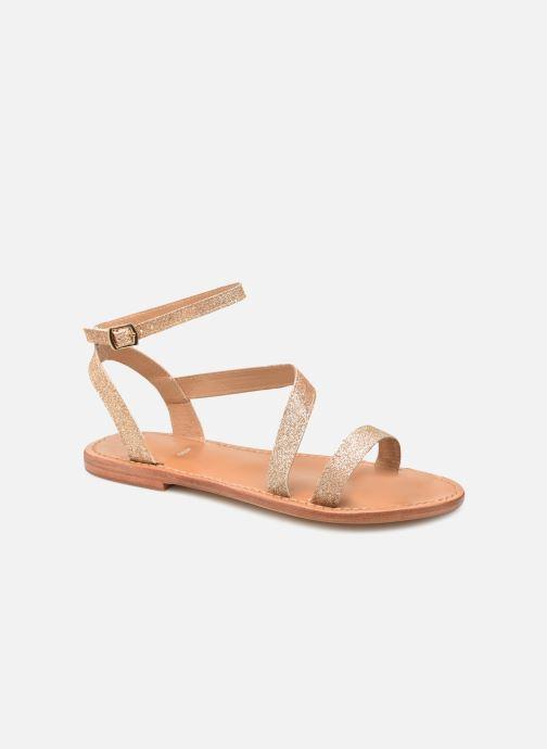 Sandales et nu-pieds White Sun XIGALA Or et bronze vue détail/paire