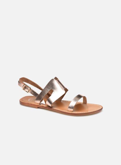 Sandales et nu-pieds White Sun DAVITZA Or et bronze vue détail/paire