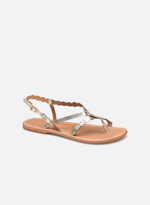 Sandales et nu-pieds White Sun ANOUK Or et bronze vue détail/paire