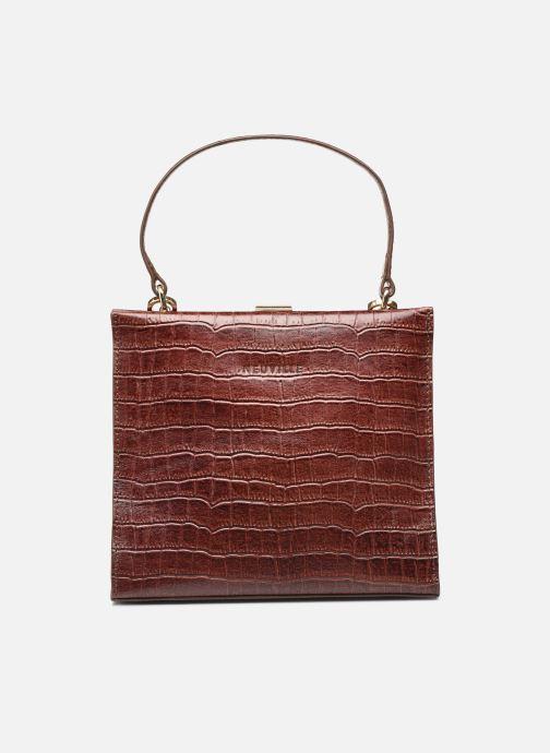Handtassen Neuville Queen Bruin detail