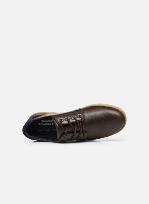 Sneaker Skechers LANSON braun ansicht von links