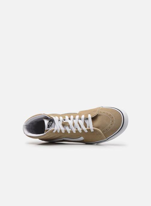 Sneaker Vans UA SK8-Hi M braun ansicht von links