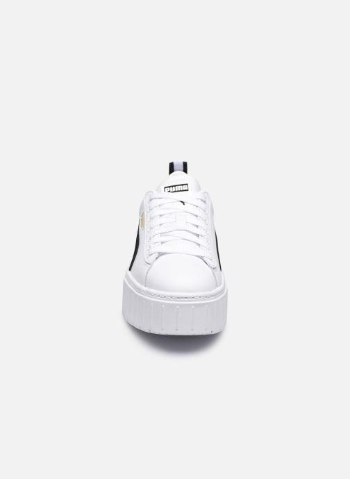 Sneakers Puma Mayze  Lth Wns Bianco modello indossato