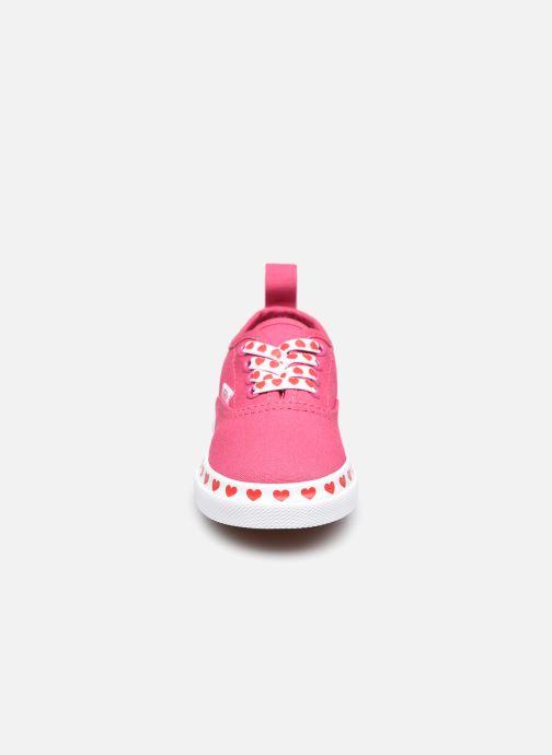 Sneaker Vans TD Authentic Elastic rosa schuhe getragen