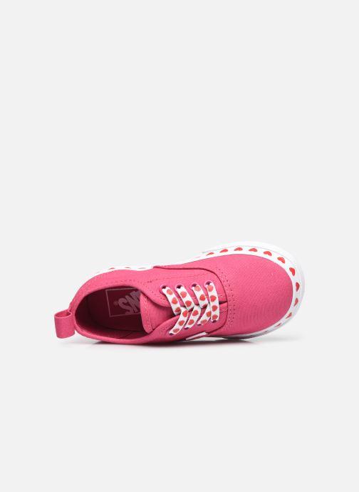 Sneaker Vans TD Authentic Elastic rosa ansicht von links