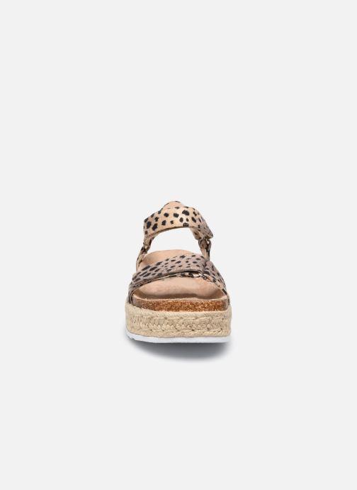Sandales et nu-pieds MTNG 48267 Marron vue portées chaussures