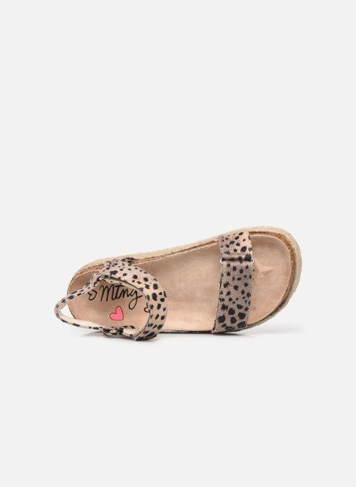 Sandales et nu-pieds MTNG 48267 Marron vue gauche