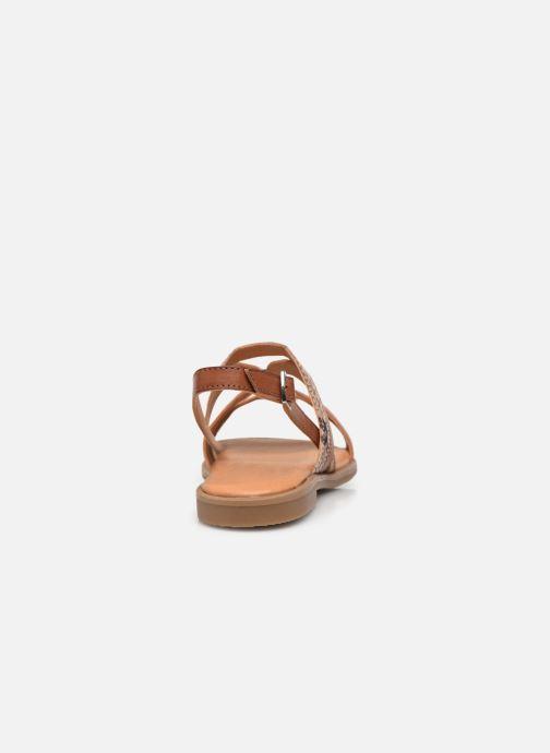 Sandali e scarpe aperte MTNG 50750 Marrone immagine destra
