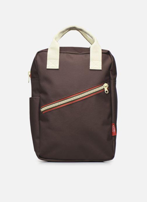 Schooltassen ENGEL. Backpack Large Zipper New 26x13x36 cm Bruin detail