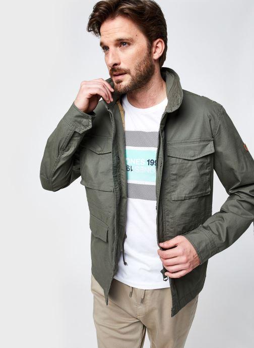 Vêtements Jack & Jones Jprfelix M-65 Field Jacket Ltn Vert vue détail/paire