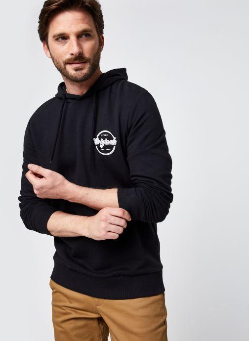 Vêtements Jack & Jones Jorbrians Sweat Hood Fst Noir vue détail/paire