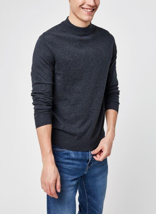 Kleding Selected Homme Slhdave Mock Neck Grijs detail