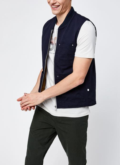 Abbigliamento Selected Homme Slhbaker Cotton Vest Azzurro vedi dettaglio/paio