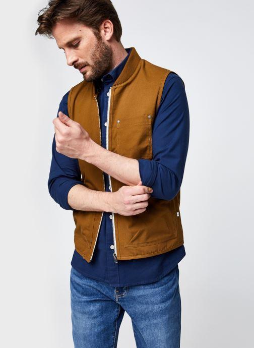 Ropa Selected Homme Slhbaker Cotton Vest Marrón vista de detalle / par