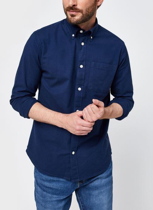 Ropa Selected Homme Slhregrick-Ox Flex Shirt Ls Azul vista de detalle / par