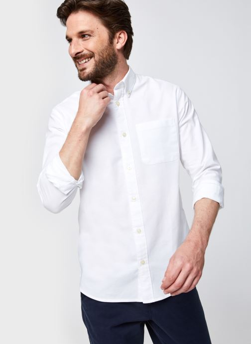 Ropa Selected Homme Slhregrick-Ox Flex Shirt Ls Blanco vista de detalle / par