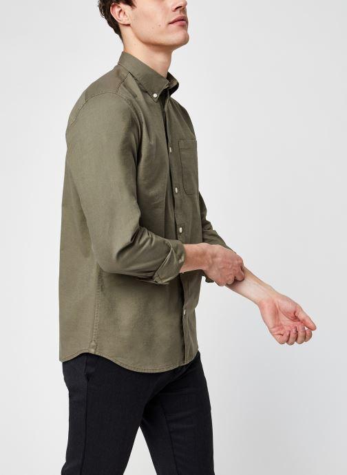 Ropa Selected Homme Slhregrick-Ox Flex Shirt Ls Verde vista de detalle / par