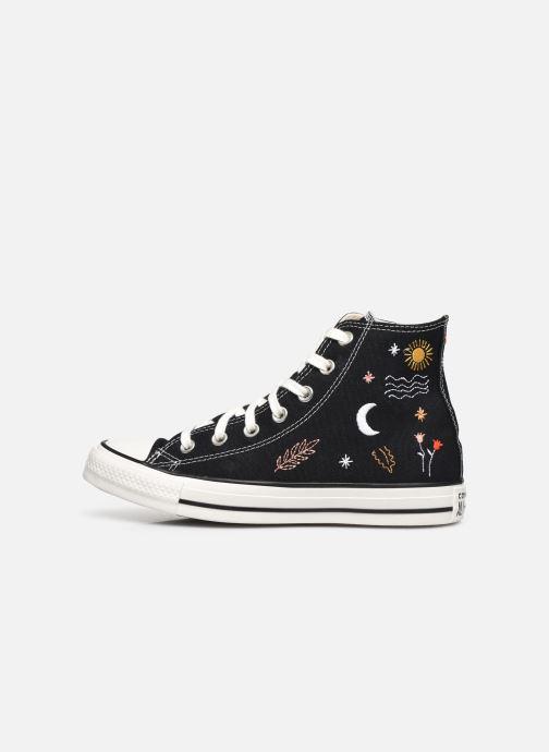 Sneaker Converse Chuck Taylor All Star It's Okay To Wander montante schwarz ansicht von vorne