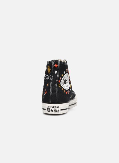 Sneaker Converse Chuck Taylor All Star It's Okay To Wander montante schwarz ansicht von rechts